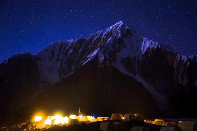 Лагерь на Южном Иныльчеке