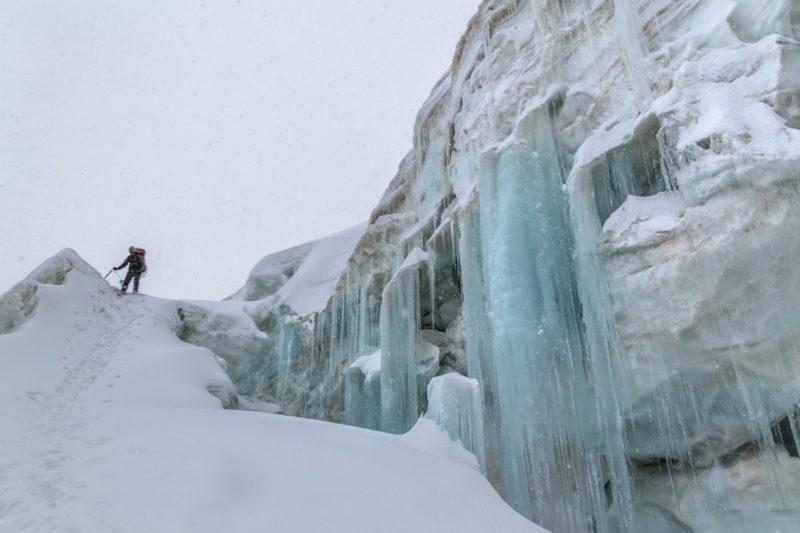 В ледопаде перевала Дикий