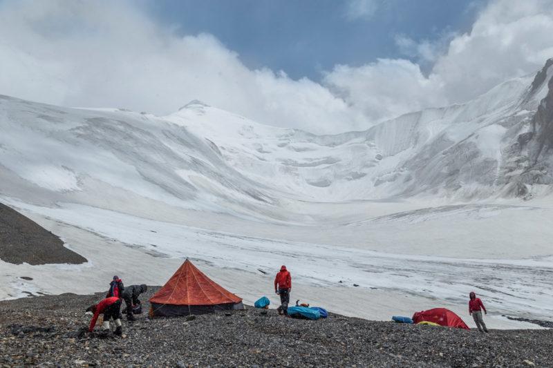 Лагерь под перевалом Чонташ