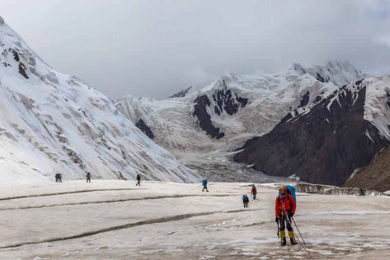 верховья ледника Комсомолец