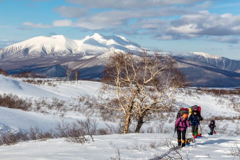 По Камчатке на лыжах