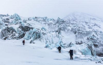 Ледопад вулкана Крестовский