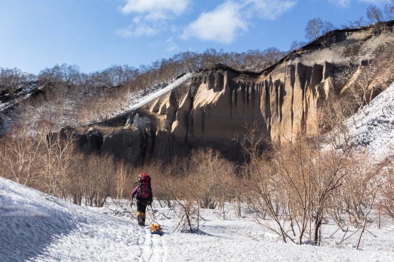Пемзовые скалы на Камчатке
