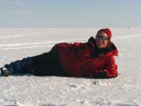 Надежда Обухова на льду Карского моря