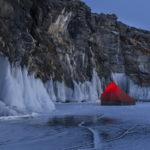 Лагерь на льду Байкала
