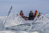 Привал на льду Байкала