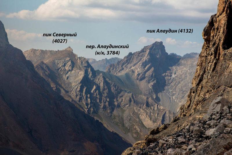 Восточные склоны пер. Алаудинский (н/к, 3784)