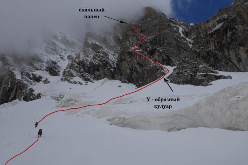 Подход и нижняя часть маршрута