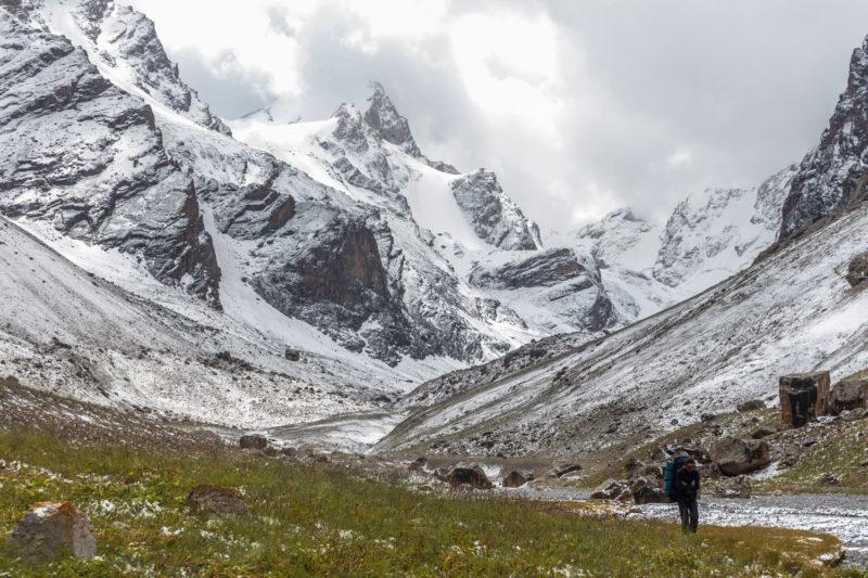Спуск с перевала Мирали