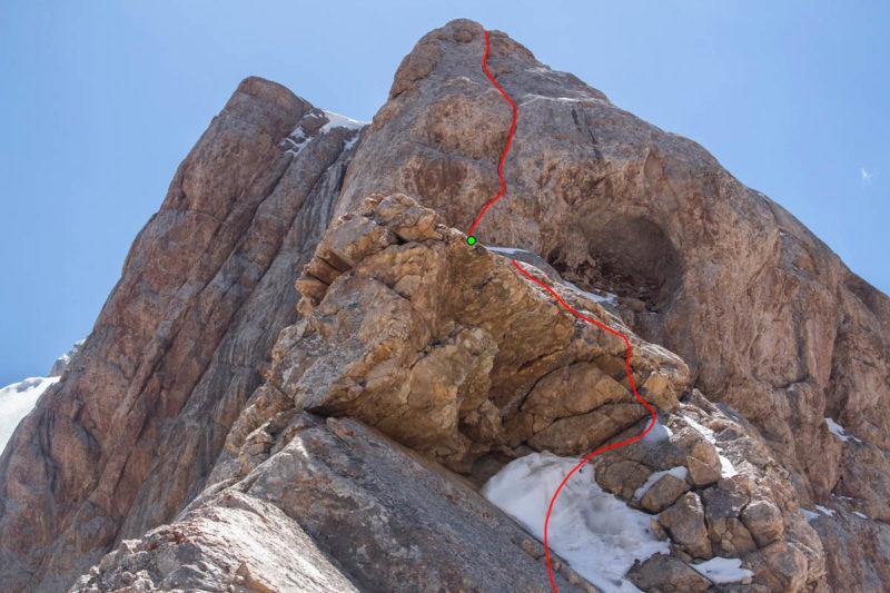 Подъем на 5-й жандарм (13–14-я веревки). Прохождение верхней части с помощью ИТО