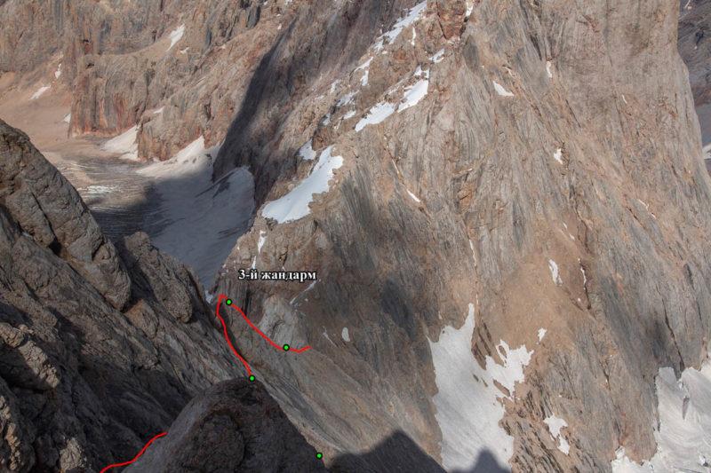 Вид назад на С. гребень в. Б. Ганза (5306)