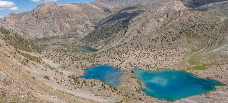 Куликалонские озера с подъема на перевал Темиртау