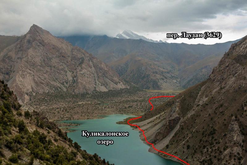 Путь обхода Куликалонского озера