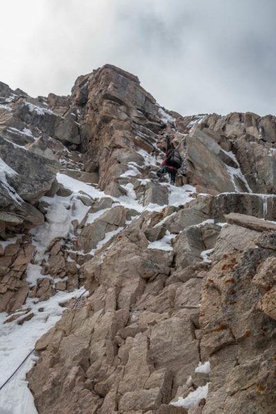 Участок перед выходом на снежно-ледовый купол (10-я веревка)