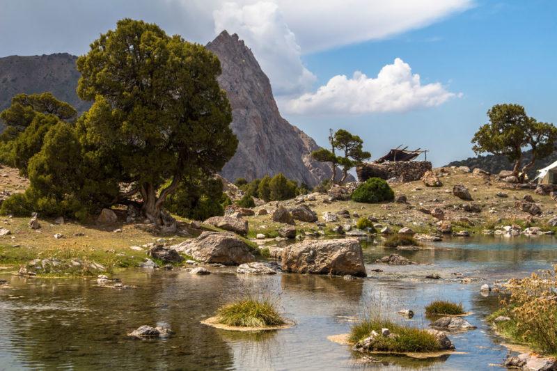 Кош на Куликалонских озерах