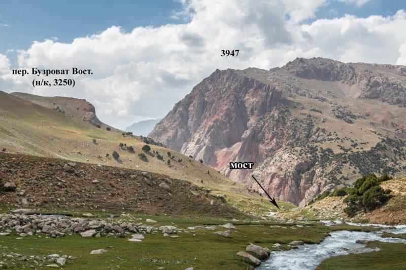 Долина р. Обисафед в районе поворота к пер. Бузроват