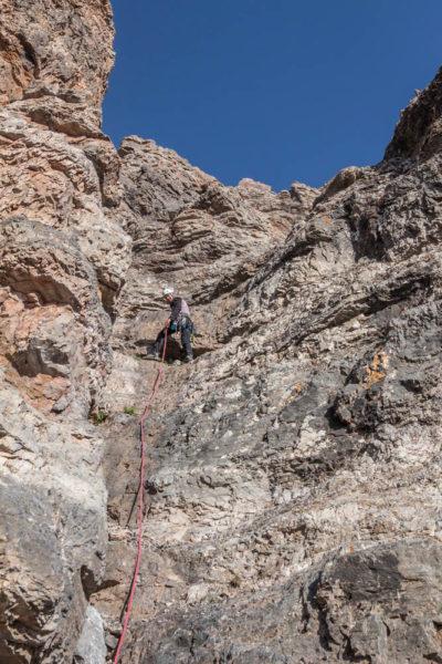 Вторая веревка в обход скальнойступени