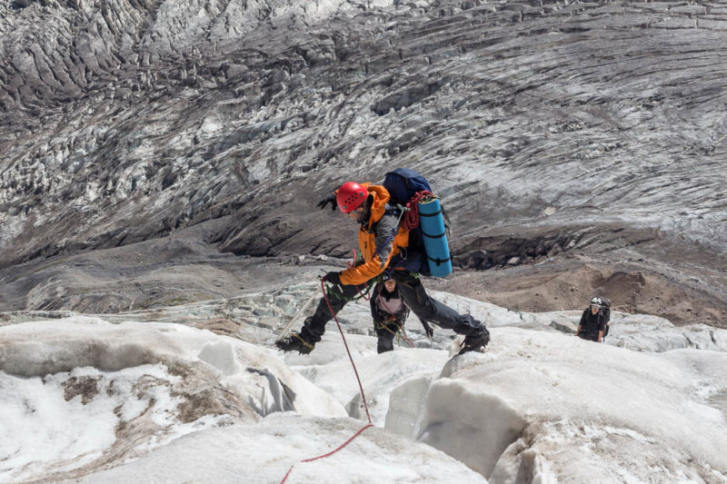 В ледопаде ледника Фанской сказки