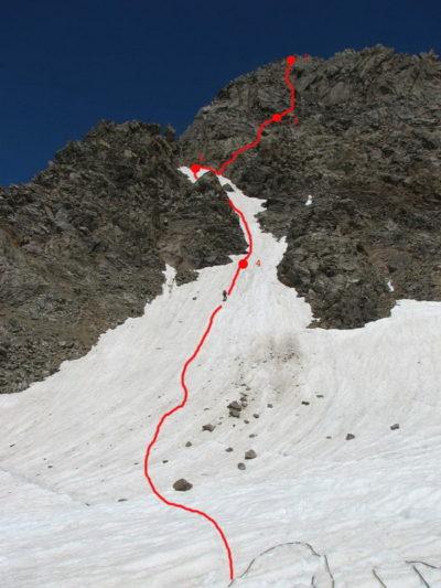 Путь спуска с гребня на лед. Бжедух