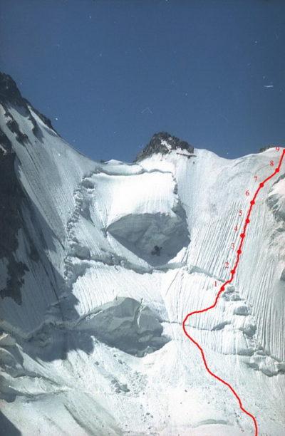 Путь подъема на пер. Седло Кавказа (3А, 4050)