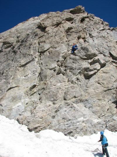 Ключевой участок маршрута на вершину Адырсу