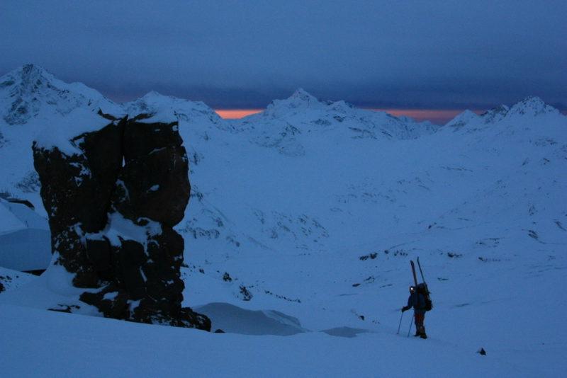 Зимнее утро на Эльбрусе