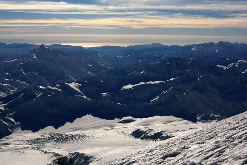 Вид со склонов Эльбруса