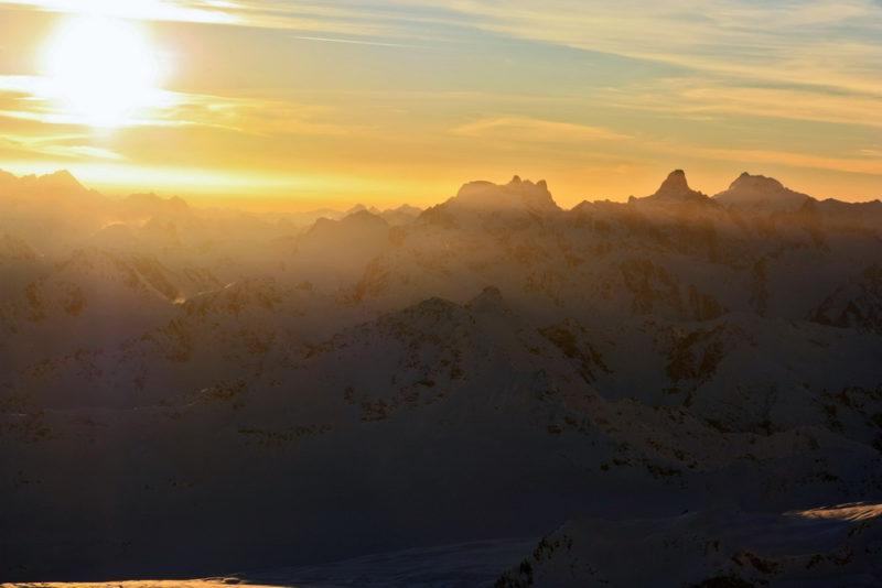 Закат на Эльбрусе