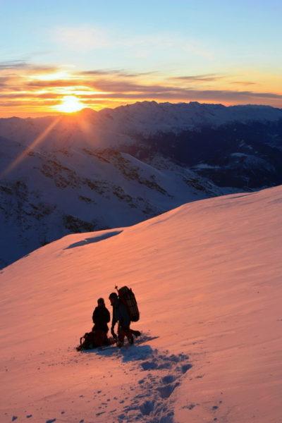 Закат в зимних горах
