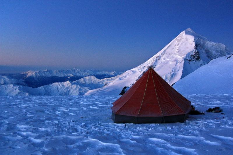 Лагерь на Катынском плато