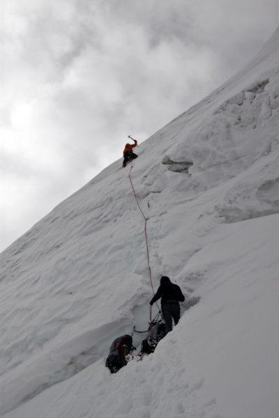 Выход на северный гребень вершины Удобная (5940)