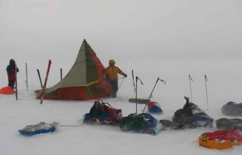 Постановка лагеря в лыжном походе