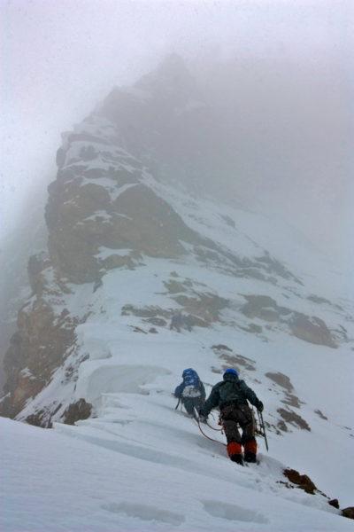 Северный гребень вершины 6123