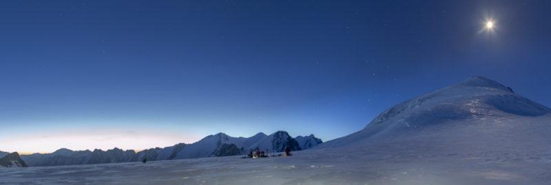 Лагерь на Софийском леднике
