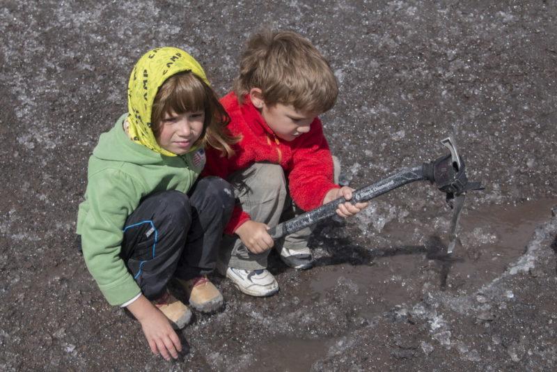 Дети на леднике