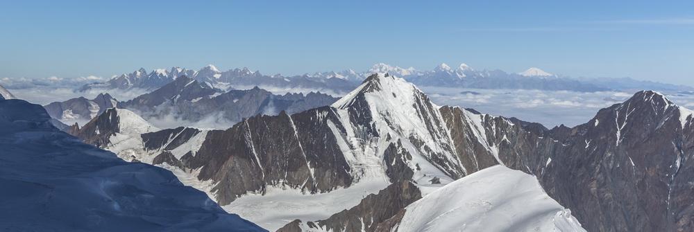 Панорама с вершины Казбека