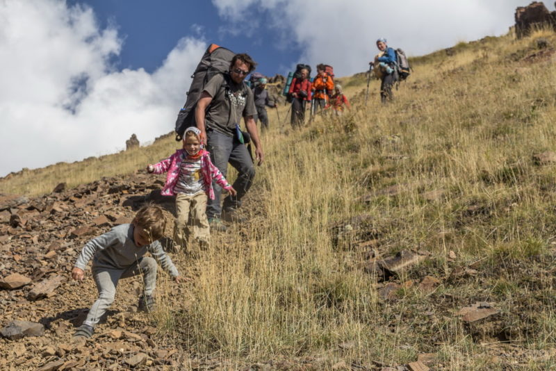 Спуск в долину реки Арагац
