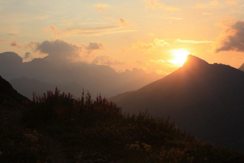 Закат в Доломитах