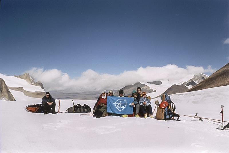 Группа на перевале Петрова