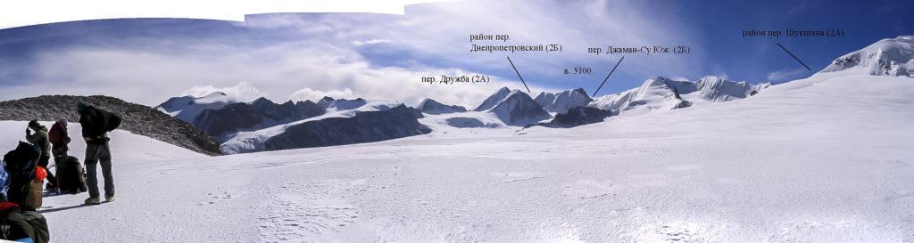 Вид с пер. Петрова на юго-восток