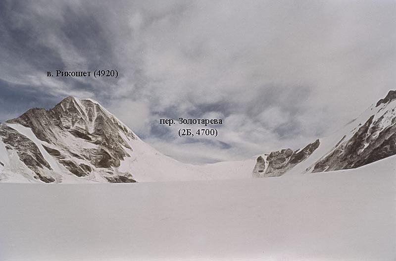 Перевал Золотарева с лед. Солнечный