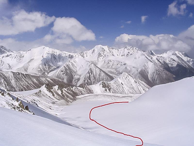 Вид с пер. Туманный на восток