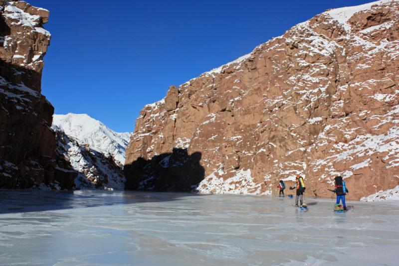 Наледь в верхнем каньоне Западного Пшарта