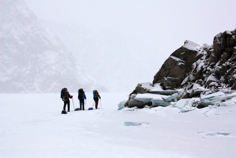 Сарезское озеро зимой