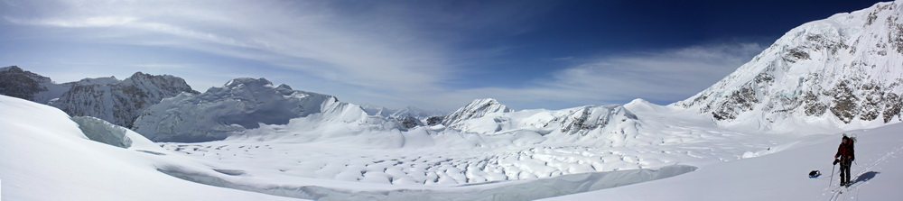 Панорама ледника Башурвдара