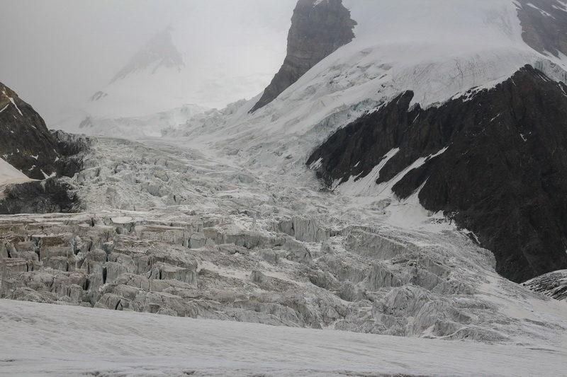 Нижний ледопад ледника Северный