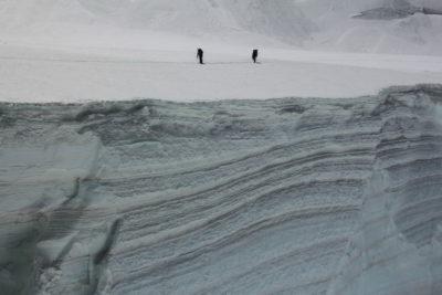 Связка на леднике Северный