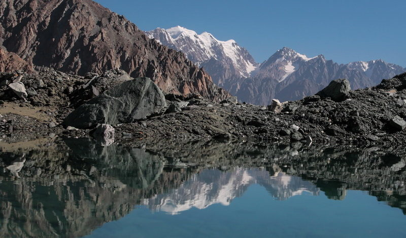 Озеро под ледником Шапак