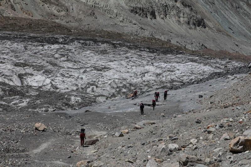 ледник Фортамбек у поворота к леднику Вальтера