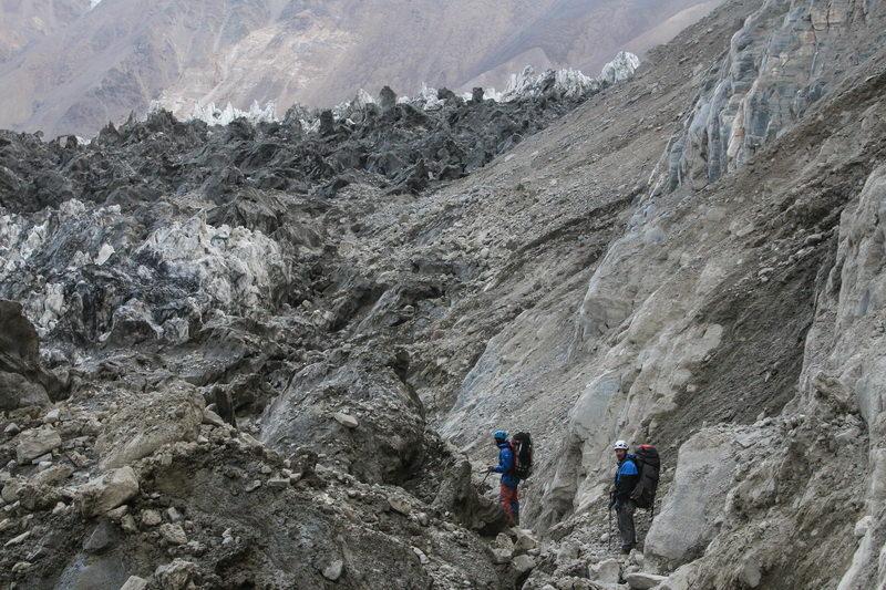 Проход вдоль ледника Ошанина